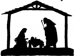 nativity scene black and white clipart education photos of