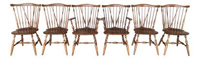 Maple Chairs Ethan Allen Windsor Brace Back Maple Dining Chairs Set Of 6