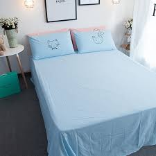 Free Bed Sets 100 Washed Cotton Lovely Cat Embroidered Bedding Sets For
