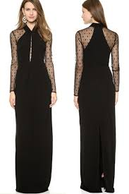 Draped Maxi Dress Brand Black Long Draped Maxi Dress With Mesh Sleeves Online