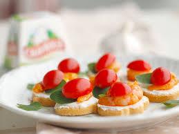 canape de receita canapé de queijo cremoso e camarão