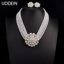 bride necklace images Online shop uddein newest wedding bride necklace sets multi layer jpg