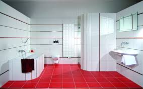 Designer Bathroom Wallpaper by Modern Bathroom Beautiful Red And White Bathroom Wallpaper Tn173