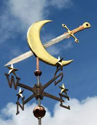 Bull Weathervane Moon And Sword Weather Vane By West Coast Weathervanes Unique