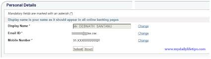 how to change sbi account address and net banking mobile number online
