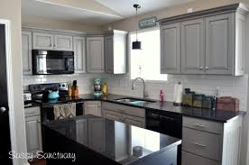 Kitchen Cabinets Black And White Grey Kitchen Cabinets With Black Appliances Outofhome