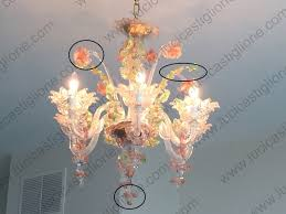 Murano Blown Glass Chandelier Spare Parts For Chandeliers Murano Glass Spare Parts Ferro Murano