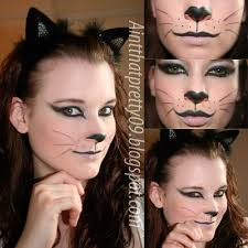 black cat make up for the trunk or treat halloween costume ideas