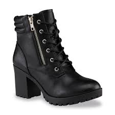 kmart womens boots bongo s zima black moto boot clothing shoes jewelry