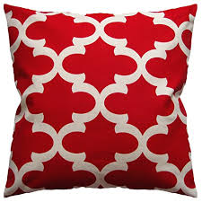 JinStyles Cotton Canvas Quatrefoil Accent Decorative Throw Pillow