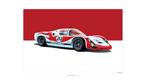 porsche poster iconic racing car posters by arthur schening