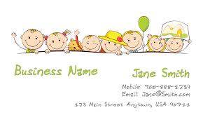 childcare business cards child care business card design 2201041