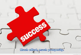 puzzle success quote with wallpaper
