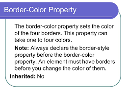 Css Table Border Color Css Border Ppt Online Download