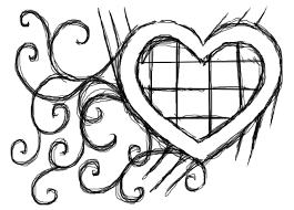 heart sketch by aella black white drawing