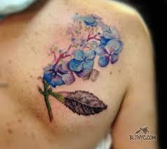 lavender flower color tattoo by so yeon at body language tattoo