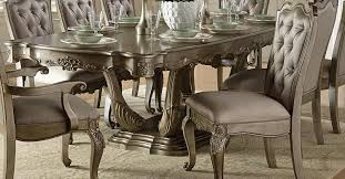 Silver Dining Room Beautiful Brown Ancient Wood Silver Dining Table With 8 Chairs