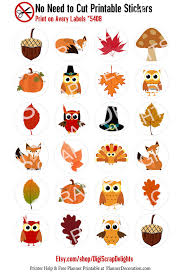autumn no cut needed printable planner stickers fall print