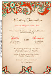 indian wedding card designs diy email indian wedding card template 14 multi colored floral