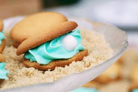 seashell shaped cookies ariel s oyster pearl cookies disney family