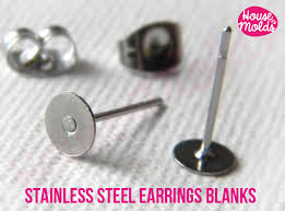stainless steel stud earrings stainless steel studs earrings blanks 5 mm diameter with backs