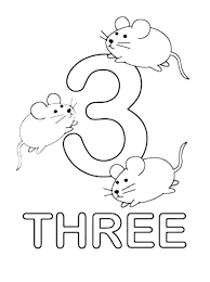 Kids Learn Number 3 Coloring Page Bulk Color Number 3 Coloring Page