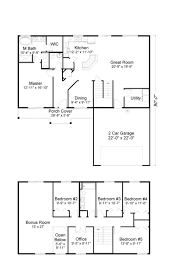2800 Sq Ft House Plans Muirfield South 2800 Sq Ft 2 Story Home Fairway Homes West