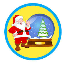 free illustration santa merry globe free image