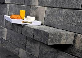 solid concrete block for walls for garden enclosures for