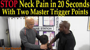 stop neck pain in 20 seconds with two master trigger points dr