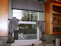 kitchen decoration using black white stripe including light blue