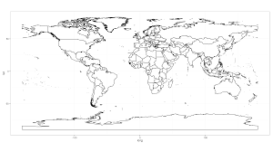 Black And White World Map R How To Reduce White Space Margins Of World Map Stack Overflow