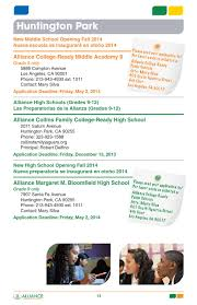 2014 2015 alliance enrollment brochure by alliance college ready