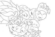 dragon ball kamehameha coloring pages free printable japanese