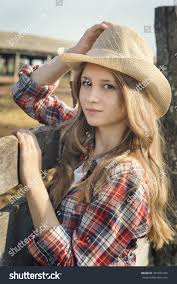 portrait young beautiful style country stock photo 307021442