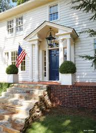 Colonial Front Porch Designs Colonial Exterior Front Door Benjamin Moore