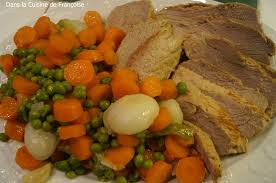 cuisiner les petits pois petits pois carottes et quasi de veau dans la cuisine de françoise