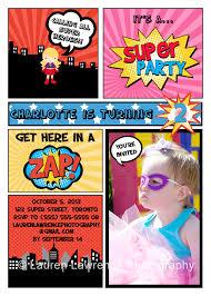 the latest and greatest u2013 superhero birthday party invitation