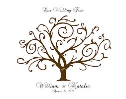 Wedding Tree Thumbprint Wedding Tree Guest Book Bridal Shower Anniversary