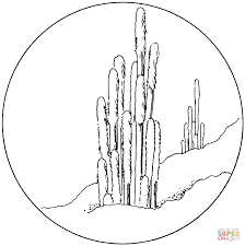 cactus coloring pages free coloring pages