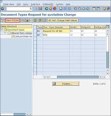 sap document types table sap mm configuration