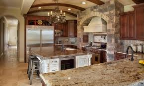 l shaped kitchen layout ideas built in stove and oven large tile