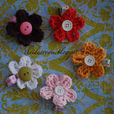 Flower Clips For Hair - crochet flower hair clips the idea room