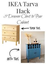 Diy Bar Cabinet Ikea Tarva Hack Entry By Addicted 2 Diy Homeright