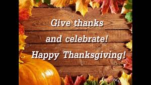 happy thanksgiving to all my friends greetings