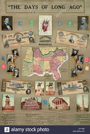 States Of America Map by Map Of The Confederate States Of America 1910 Half Century Stock