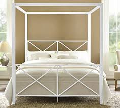 Metal Canopy Bed Dhp Rosedale Metal Canopy Bed Size White