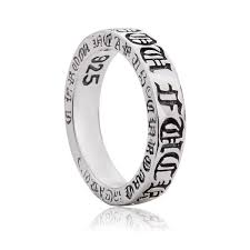 925 sterling silver chrome hearts gothic antique ring gift for men