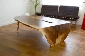 waterfall coffee table wood waterfalled castslab coffee table by rob zinn for blankblank