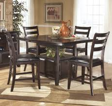 Upholstered Counter Height Bench Dining Tables 5 Piece Dining Set Counter Height Upholstered
